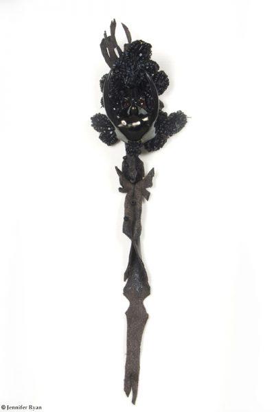 Veuve noire. Série des fleurs insectes.