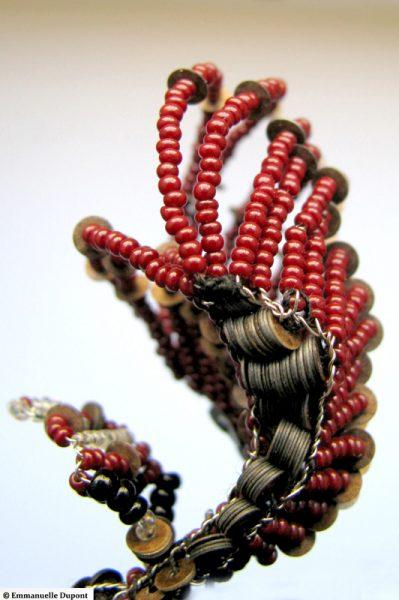 Poisson, détail. Série des fleurs insectes.